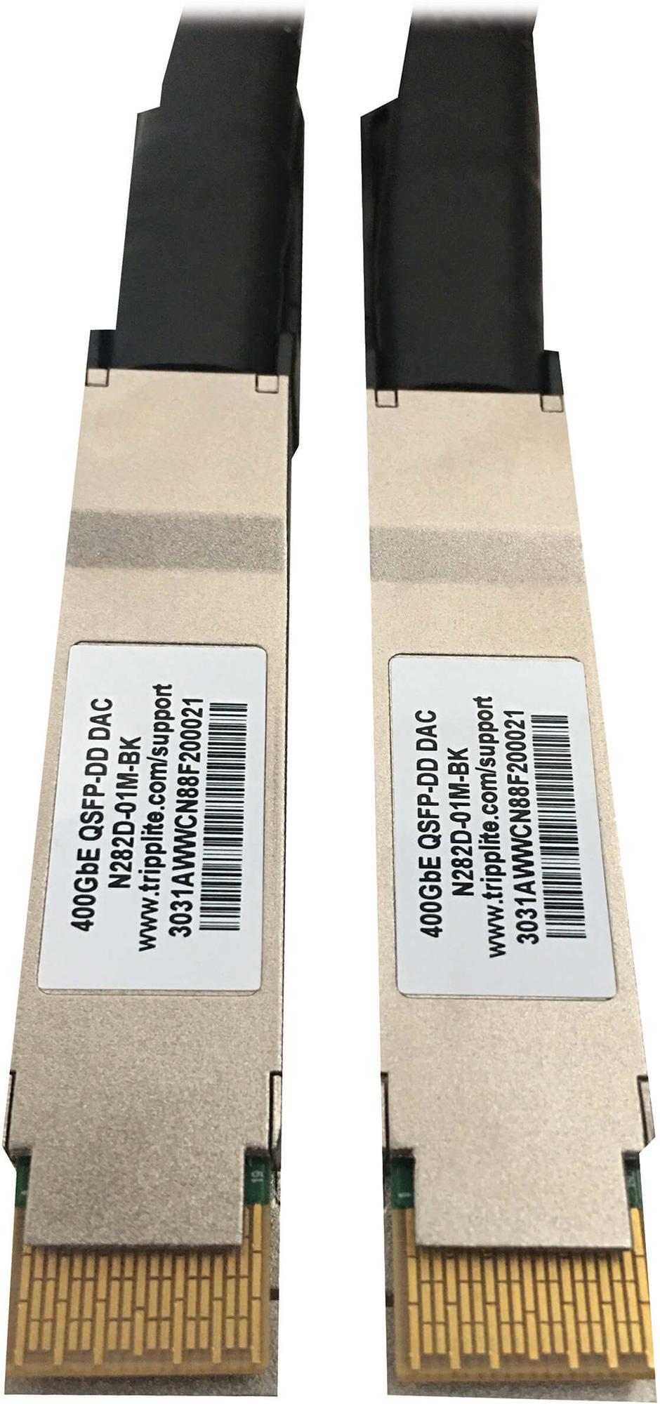 Tripp Lite N282D-01M-BK Passive Twinax Direct-Attach Cable 400G QSFP-DD/QSFP-DD - 1 Meter TRL-N282D-01M-BK