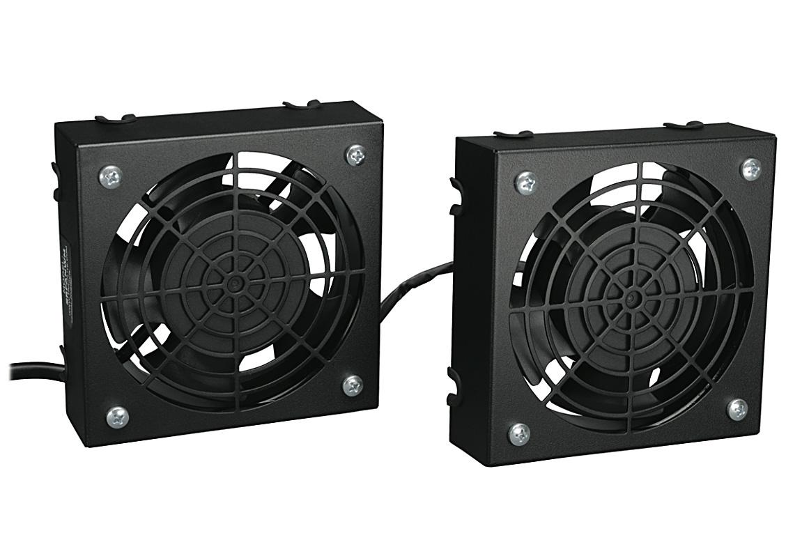 06f2c2cf4b27 Tripp Lite SRFANWM Wallmount Rack Enclosure Cooling Roof Fan Kit 120V 5-15P