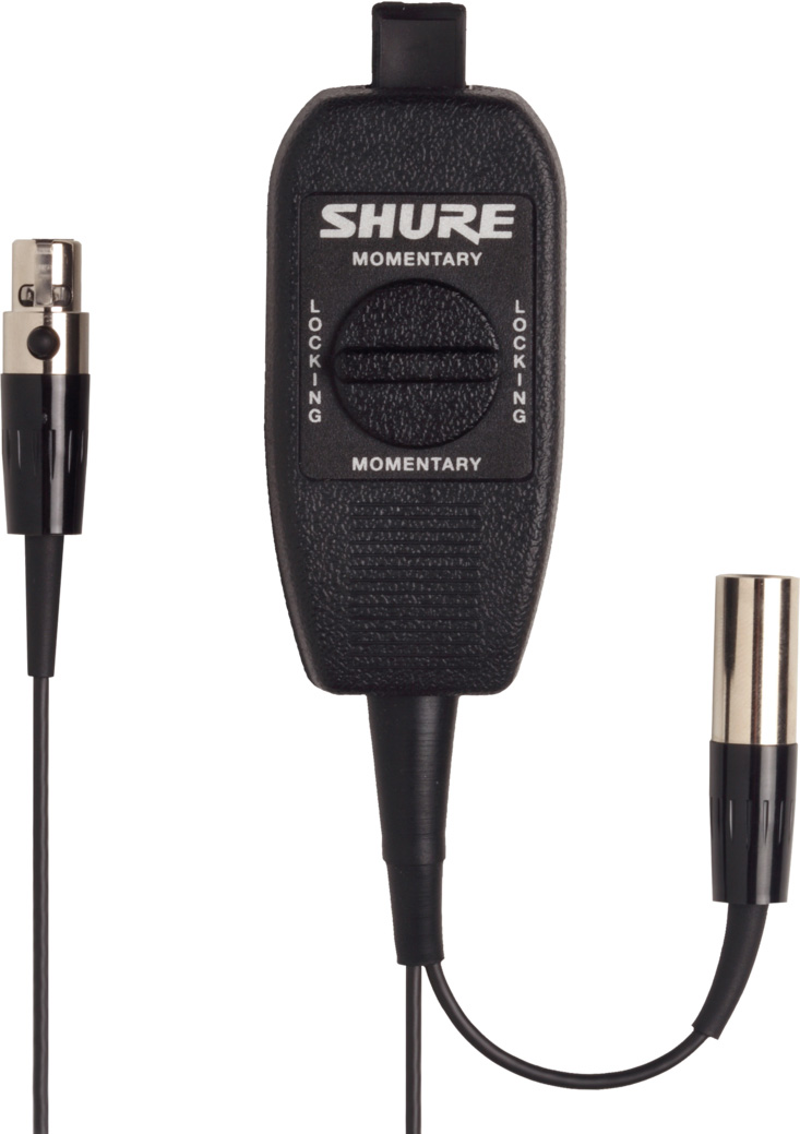 Shure WA360 In-Line Audio Mute Switch for Bodypack Transmitters with ...