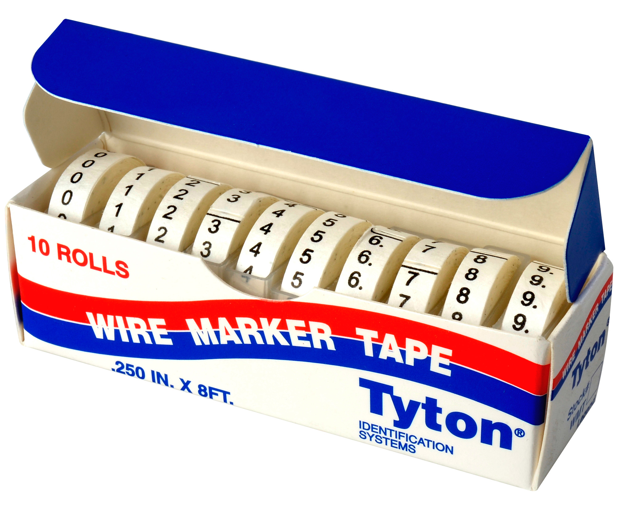 Cable Markers Product : Wire marker tape refills numbered white