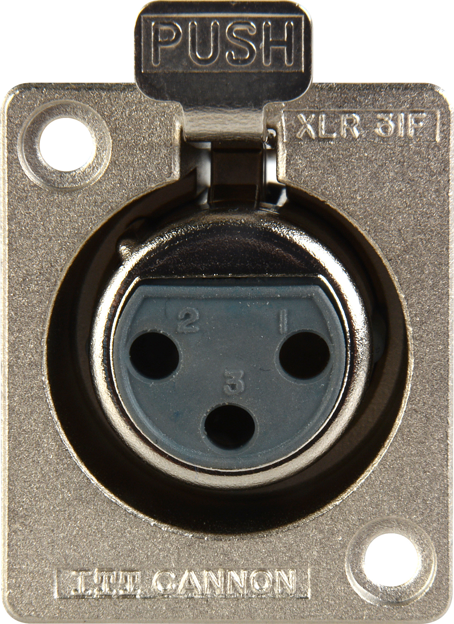 Canare d hole xlr f itt cannon solder back