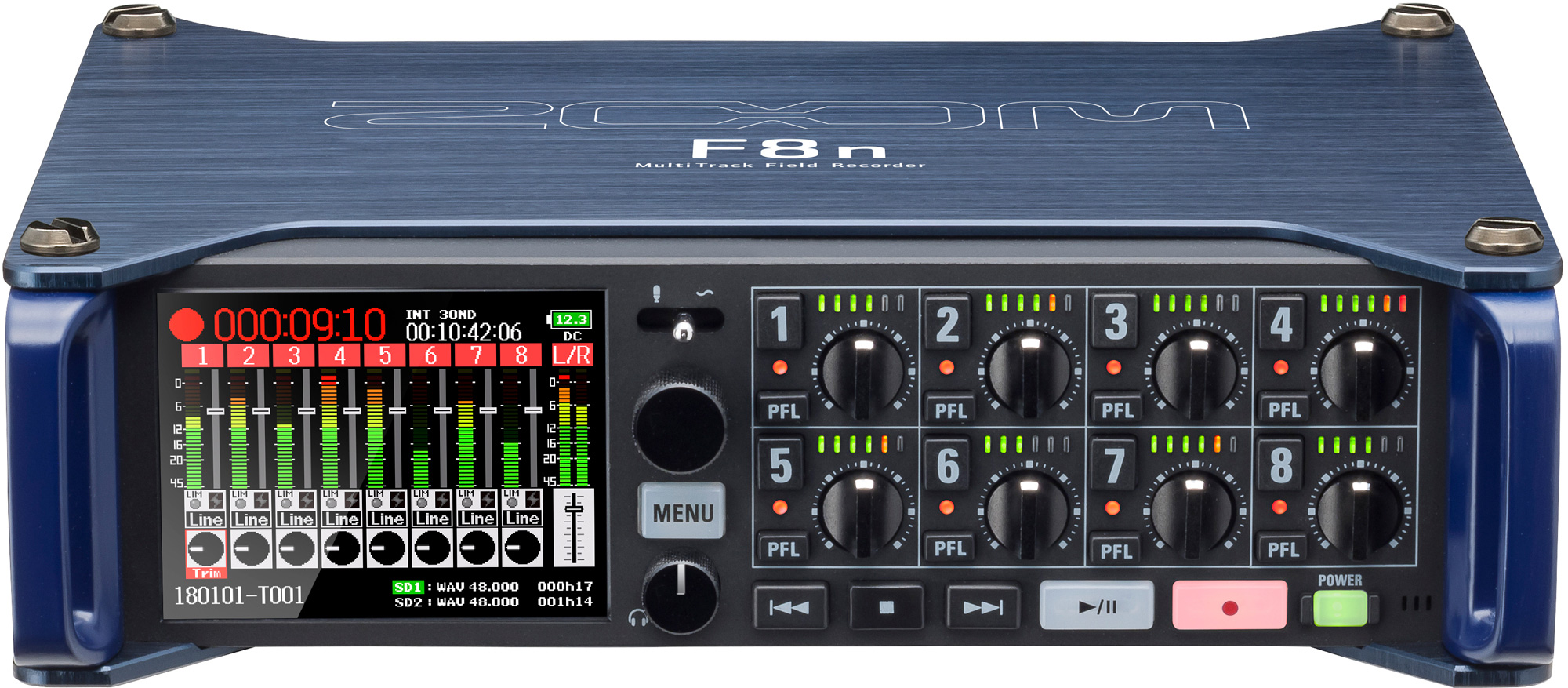 Zoom F8n 8 Input 10 Track Recorder With Automix High Quality Cable Neutrik Xlr 1 4quot Combo Jacks And Phantom Power Sound Design