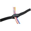 Cord-Lox 1in x 10 Inch Hook & Loop Closed Loop Cable Tie Wrap 10 Pack Black