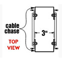 8 Rack Space Cable Chase Kit 14-Inch