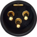 Switchcraft A3MBAU 3-Pin XLR Male Cable End - Black Shell - Gold Pins
