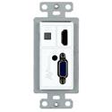 AVPro Edge AC-CXWP-VGA-T VGA/HDMI Single Gang Decora Style Wall Plate HDBaseT Transmitter - 100M HD/70M 4k - White