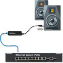 Audinate ADP-DAO-AU-0X1 Dante AVIO Analog Output Adapter with RJ45 and XLR male. Single channel version.