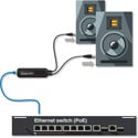 Audinate ADP-DAO-AU-0X2 Dante AVIO Analog Output Adapter with RJ45 and 2 XLR males. 2 channel version.