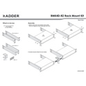 Adder RMK4D-R2 19 Inch Rackmount Kit for Two AdderLink 199mm Wide 1U Products for Use with PSU-RPS-5V (Red PSU Cable)