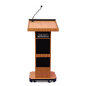 Amplivox S505WT Executive Sound Column Lectern - Walnut