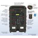 Amplivox SB8001 Titan Wireless Portable PA Bundle with Handheld Mic With embedded Bluetooth