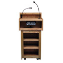Amplivox SN3010 Oxford Two-Piece Lectern Without Sound - Oak