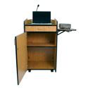 Amplivox SS3230 Multimedia Computer Lectern- Walnut