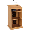 Amplivox SW470-MH Chancellor Lectern - Wireless Sound- Natural Mahogany