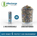 Ansmann 1302-0013-1 Max E Pro AA Slimline Rechargeable Battery - High Recycle Low Discharge 4-Pack w/Case