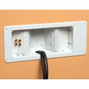 Arlington TVB713 Recessed TV Box with Angled Openings