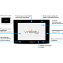 Atlona AT-VTP-800-BL 8 Inch Touch Panel Display for Velocity Control System - Black