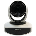 Avipas AV-1280W 10x Full-HD 3G-SDI PTZ Camera with IP Live Streaming and PoE Supported in White Color
