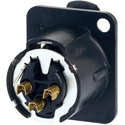 AVP UMNC3FD-LX-B Maxxum Neutrik 3 Pole Black/Gold Duplex Ground Contact Adapter Plate(s) and/or Hardware MIS Color-Code