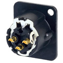 AVP UMNC3MD-LX-B Maxxum Neutrik 3 Pole Black/Gold Duplex Ground Contact Adapter Plate(s) and/or Hardware MIS Color-Code
