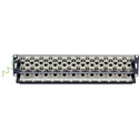 Black Box C6AFP70S-48 48-Port 2U CAT6A Staggered Feed-Through Patch Panel Shielded