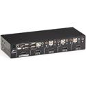 Black Box KV9704A Desktop KVM Switch 4-Port DisplayPort USB Bi-Dir USB Audio