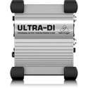 Behringer DI100 Ultra- DI Box for Stage and Studio - Battery Or Phantom Powered  Rugged DI Box