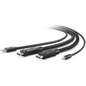 Belkin F1D9020B06 Dual-Head DisplayPort to DisplayPort KVM Combo Cable - 6 Foot
