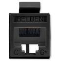 Belden RV6MJKUBK-B24 RevConnect CAT6plus Jack Electric Black UTP T568 A/B Bulk - 24 Pack