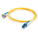 Cables to Go 37476 3M LC-ST 9/125 OS2 Duplex SingleMode PVC Fiber Optic Cable - Yellow