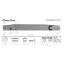 ClearOne CONVERGE Pro 2 48T DSP Mixer with 4 mic/line ins (AEC) 8 mic/line outs- built-in USB & telephone interface.