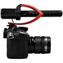 Comica CVM-V30-PRO-R Super-Cardioid Directional On-Camera Shotgun Mic with 3.5mm Jack - Red