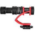 Comica CVM-VM10II-R Mini On-Camera Directional Shotgun Mic for Smartphones & DLSRs - Red