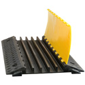 Connectronics CRSX-2 5-Channel Cable Ramp Crossover & Cable Protector - Black with Yellow Lid