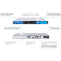 Digigram IQOYA X/LINK AES67 1U Stereo IP Audio Codec - up to 16x I/O Channels Via OPTION on AES67/Ravenna/Livewire
