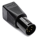 Sescom DMX-5XM-CAT5 5-Pin XLR Male to RJ45 Adapter