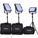 Dracast DRDRENGKBV Pro Series Bi-Color 4-Light ENG Kit with V-Mount Battery Plates