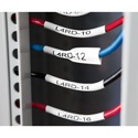Dymo 1868811 XTL 1-Inch (24 mm) Heat-Shrink Tube - Black on White