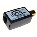 ETS PV849 Composite Video Over CAT5 Extended Baseband Video Balun Female BNC to RJ45 Pins 5 & 4