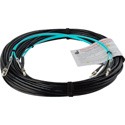 Camplex 2-Channel ST Multi Mode OM3 Fiber Optic Tactical Snake - 10 Foot