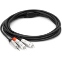 Hosa HMR-006Y Pro Stereo Breakout REAN 3.5 mm TRS to Dual RCA - 6 Foot