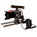 ikan BMPCC-PWR-1RD-E6 Blackmagic Pocket Cinema Camera Single Rod DV Power Kit for Canon E6