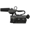 JVC GY-LS300CHU Compact 4KCAM UHD Camera Body with Handle /Mic /Battery and Power Supply (Body Only)