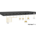 KanexPro HDMX42A-18G 4x2 HDMI 2.0 Matrix Switcher with Audio Outputs supporting 4K/60Hz