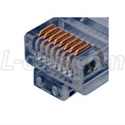 Category 6 Rated RJ45 Connectors Crimp Plug (8X8) - Shielded - 50 Pack