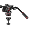 Manfrotto MVK608TWINMAUS Nitrotech 608 Fluid Video Head With Aluminum Twin Leg Tripod and Mid-Level Spreader