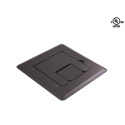 Mystery FMCA1400 Self Trimming Satin Black Floor Box with Cable Door