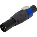 Neutrik NA4FC-M speakON  to 3-Pin XLR Male Adapter