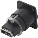 Neutrik NAHDMI-W-B HDMI 1.4 Feedthrough Adaptor (IP65 Rated/ Black D-Shape)
