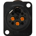 Neutrik NC3FD-L-B-1 3-Pin Female XLR Panel/Chassis Mount Connector - Latching - Black/Gold